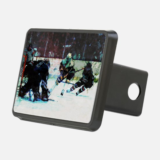 Grunge Hockey Match Hitch Cover