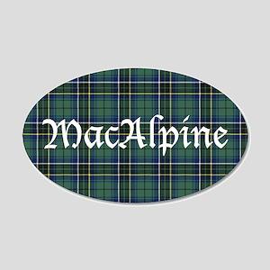 Tartan - MacAlpine 20x12 Oval Wall Decal