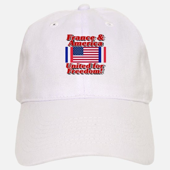 France & America United for Freedom! Baseball Baseball Cap