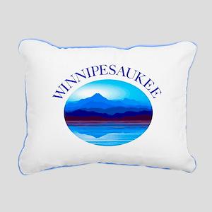 Lake Winnipeasukee Nh Rectangular Canvas Pillow