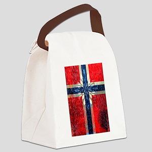 Norwegian winter Canvas Lunch Bag