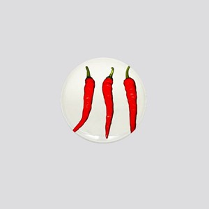 3 Cayenne Peppers Mini Button