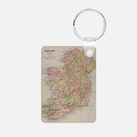 Cute Ireland Aluminum Photo Keychain