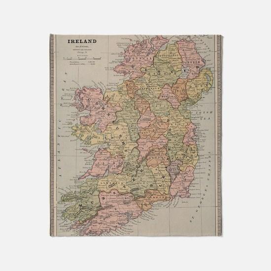 Cute Irish history Throw Blanket