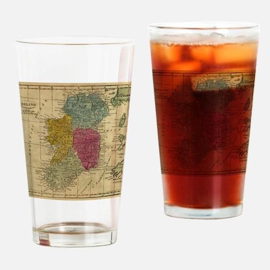 Unique Ireland Drinking Glass