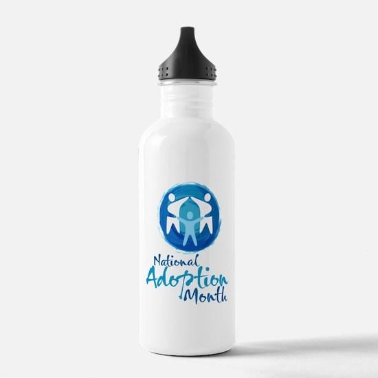 National Adoption Month Water Bottle