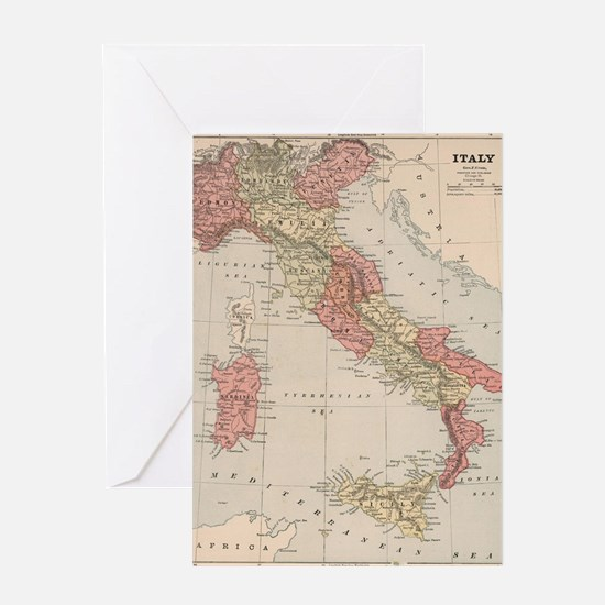 Funny I heart italy Greeting Card