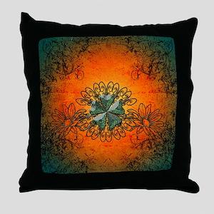 Cloverleaf made of diamond Throw Pillow