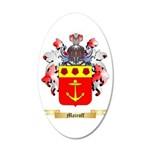 Mairoff 20x12 Oval Wall Decal