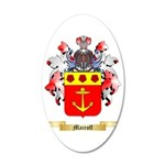 Mairoff 35x21 Oval Wall Decal