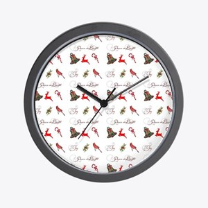 Christmas combo Wall Clock