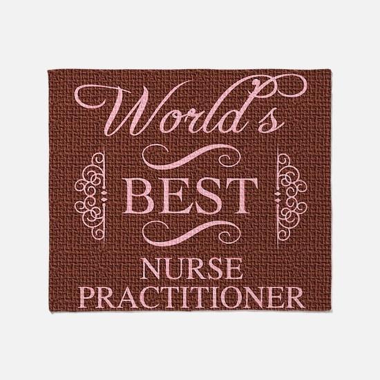 World's Best Nurse Practitioner Throw Blanket