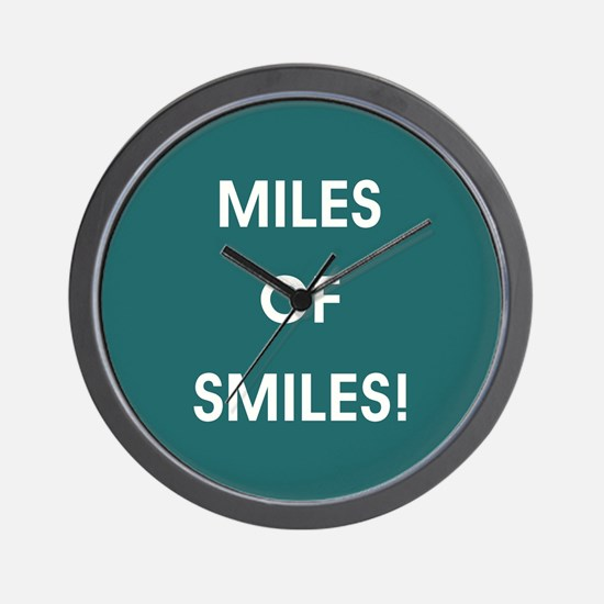 MILES OF SMILES! Wall Clock