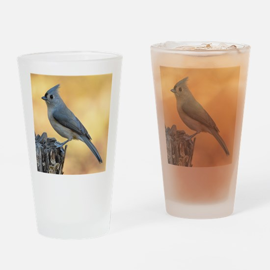 Tufted titmouse 2 Drinking Glass