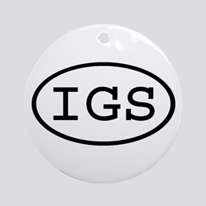 IGS Oval Ornament (Round)