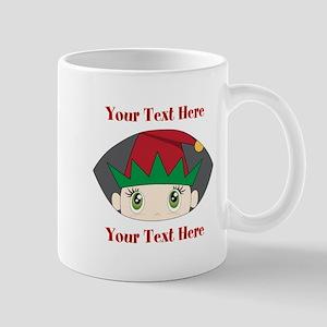 CUSTOM Peeking Elf Mugs