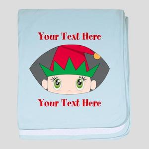 CUSTOM Peeking Elf baby blanket