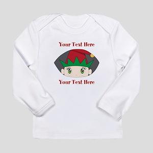 CUSTOM Peeking Elf Long Sleeve T-Shirt