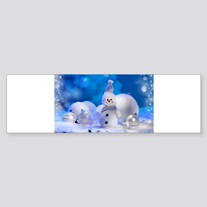 snowman Bumper Sticker