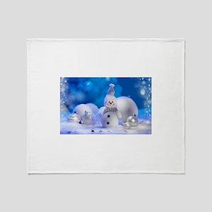 snowman Throw Blanket