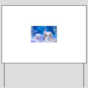 snowman Yard Sign