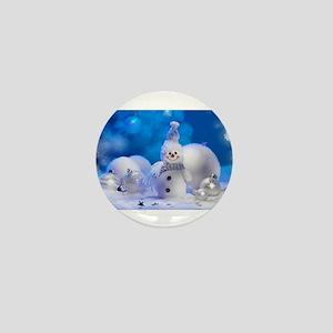 snowman Mini Button