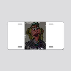 DRAW IT WITH MY EYE'S CLOSE Aluminum License Plate