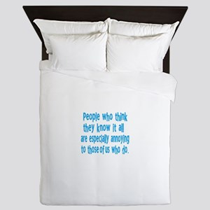know it all Queen Duvet
