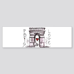 Paris with love Bumper Sticker