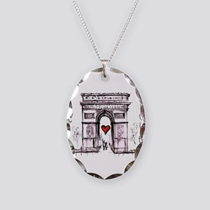 Paris with love Necklace Oval Charm
