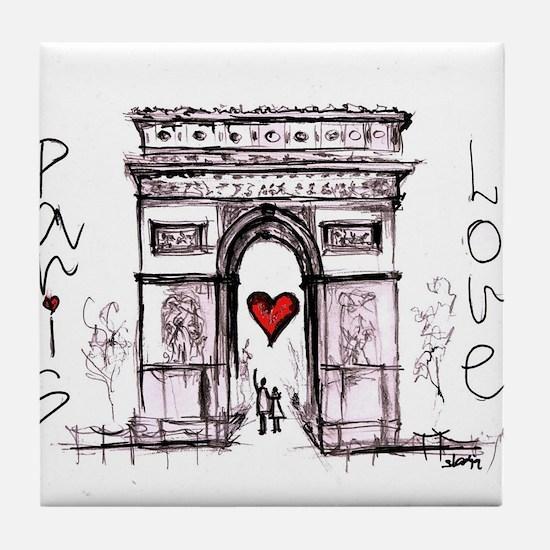 Paris with love Tile Coaster