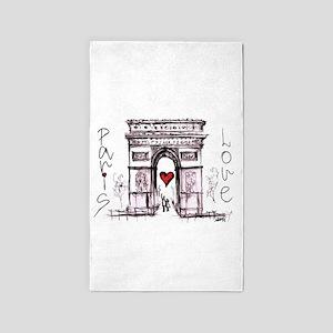 Paris with love Area Rug