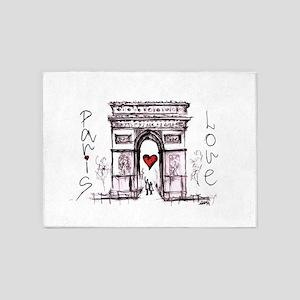 Paris with love 5'x7'Area Rug