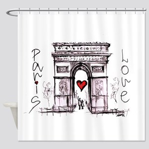 Paris with love Shower Curtain