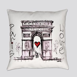 Paris with love Everyday Pillow