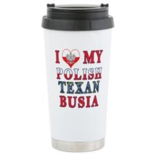 Polish Texan Busia Travel Mug