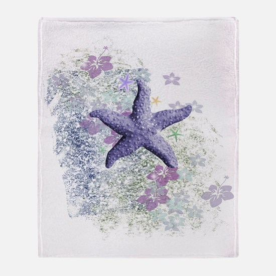 Cute Sea life Throw Blanket