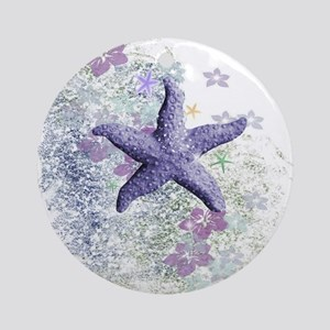 Passion Starfish Round Ornament