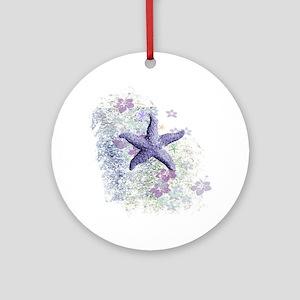 Passion Starfish Round Ornament