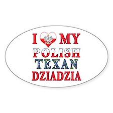 Polish Texan Dziadzia Sticker (Oval)