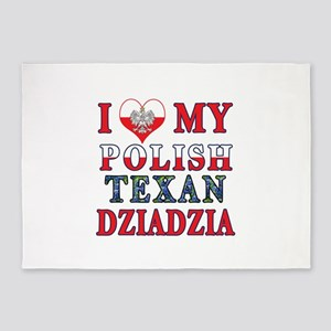 Polish Texan Dziadzia 5'x7'Area Rug