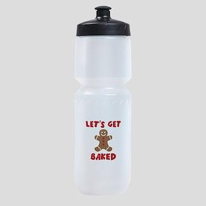 Let's Get Baked Funny Christmas Sports Bottle