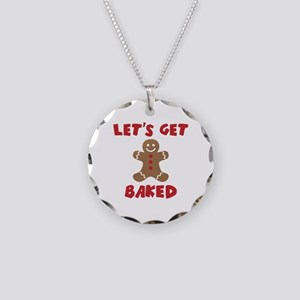 Let's Get Baked Funny Christmas Necklace