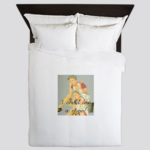 house cleaning humor Queen Duvet
