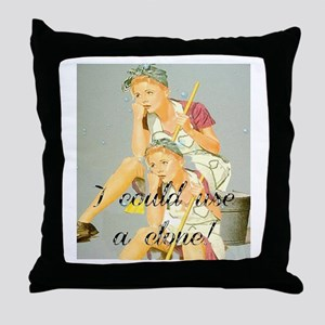 house cleaning humor Throw Pillow