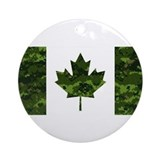 Canadian military Round Ornaments