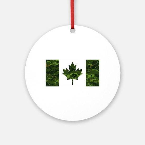 Unique Canadian Round Ornament