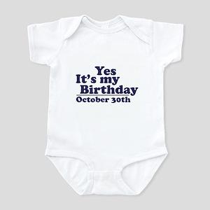 October 30th Birthday Infant Bodysuit