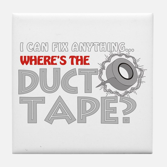 Duct Tape Tile Coaster