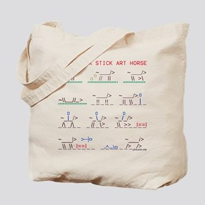 Wild horse stick art story. Tote Bag